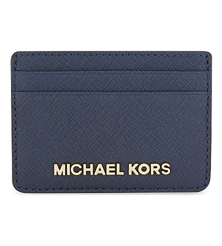 MICHAEL MICHAEL KORS Jet Set Travel leather card holder (Navy