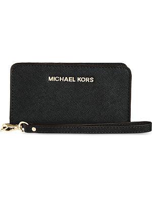 MICHAEL MICHAEL KORS Jet Set wristlet tech wallet