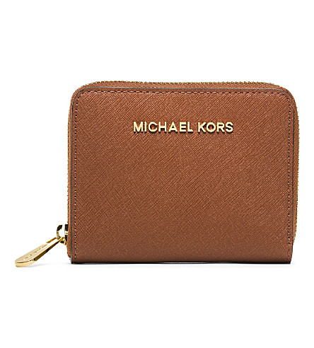 MICHAEL MICHAEL KORS Jet Set small saffiano leather wallet (Luggage