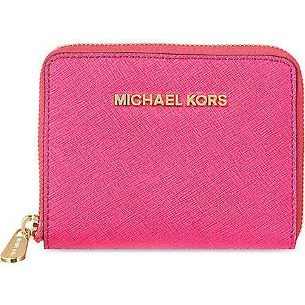 MICHAEL MICHAEL KORS Jet Set leather wallet (Raspberry