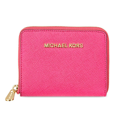 MICHAEL MICHAEL KORS Jet Set leather wallet (Raspberry