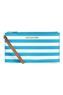 MICHAEL KORS Saffiano leather pouch