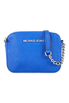 MICHAEL MICHAEL KORS Jet Set Travel saffiano-leather cross-body bag