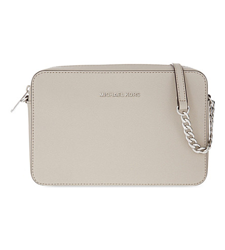 MICHAEL MICHAEL KORS Jet Set Travel leather cross-body bag (Cement