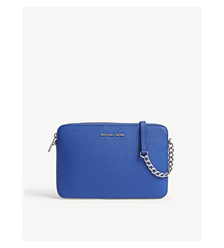 MICHAEL MICHAEL KORS Jet Set Travel leather cross-body bag (Elctric+blue