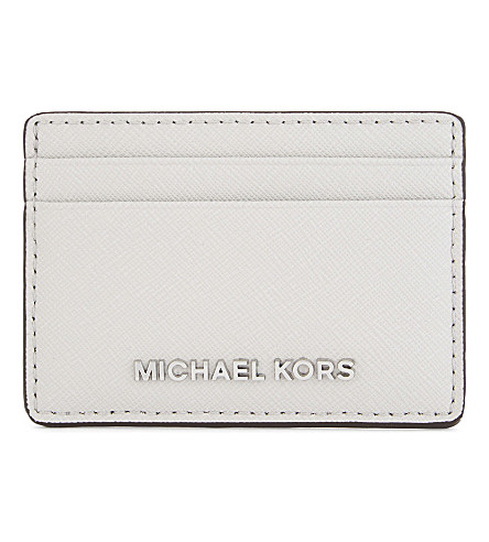 MICHAEL MICHAEL KORS Jet Set Travel leather card holder (Aluminum