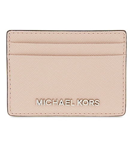 MICHAEL MICHAEL KORS Jet Set Travel leather card holder (Ballet