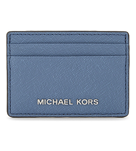 MICHAEL MICHAEL KORS Jet Set Travel leather card holder (Cement