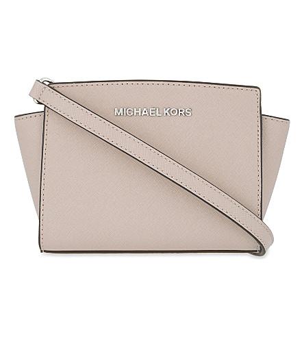 MICHAEL MICHAEL KORS Selma mini Saffiano leather messenger bag (Ballet