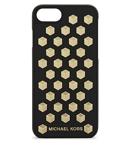 MICHAEL MICHAEL KORS Studded leather iPhone 7 case (Black