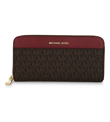 MICHAEL MICHAEL KORS Money Pieces leather continental wallet (Brn/mulbry