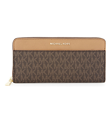 MICHAEL MICHAEL KORS Money Pieces leather continental wallet (Brown
