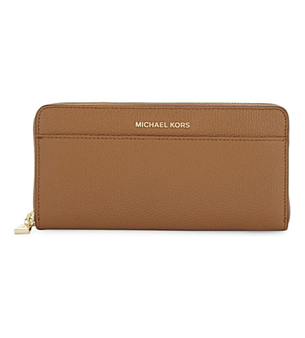MICHAEL MICHAEL KORS Mercer continental leather wallet (Acorn
