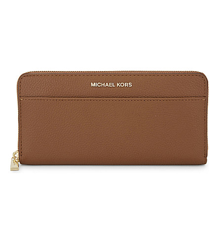 MICHAEL MICHAEL KORS Mercer continental leather wallet (Luggage