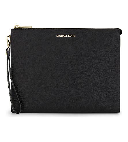 MICHAEL MICHAEL KORS Mercer leather pouch (Black