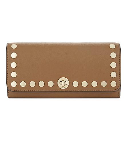 MICHAEL MICHAEL KORS Rivington stud leather wallet (Acorn