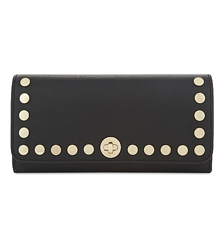MICHAEL MICHAEL KORS Rivington stud leather wallet (Black