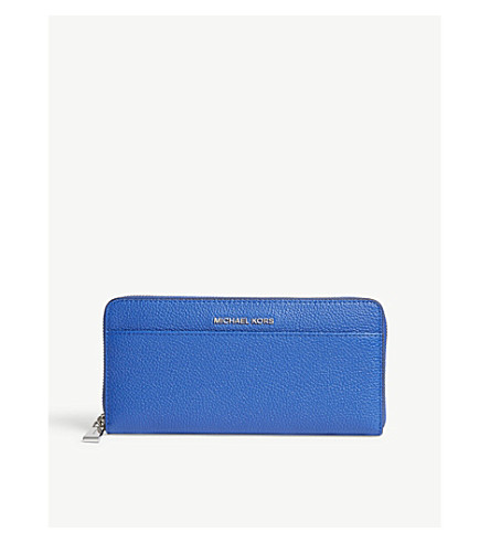 MICHAEL MICHAEL KORS Mercer leather wallet (Elctric+blue