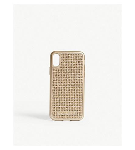 MICHAEL MICHAEL KORS Glitter iPhone X case (Gold