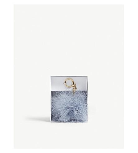 MICHAEL MICHAEL KORS羽毛绒球袋魅力 (淡 + 蓝