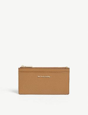 f8c239f865c96a MICHAEL MICHAEL KORS - Money Pieces grained leather card purse ...
