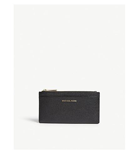MICHAEL MICHAEL KORS Large slim leather card holder (Black