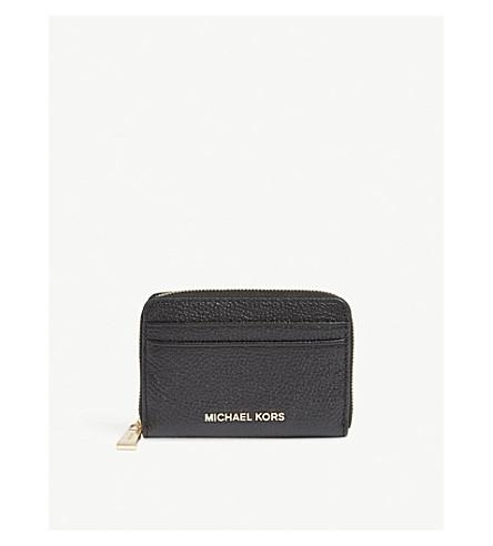MICHAEL MICHAEL KORS Money Pieces grained leather wallet (Black