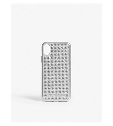 MICHAEL MICHAEL KORS Glitter iPhone X case (Silver