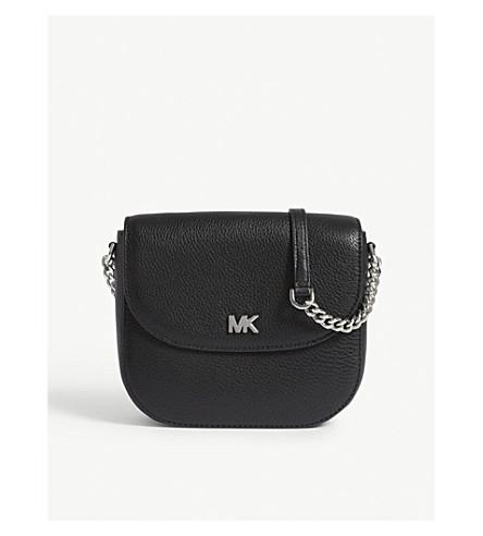 MICHAEL MICHAEL KORS Grained leather cross-body bag (Black