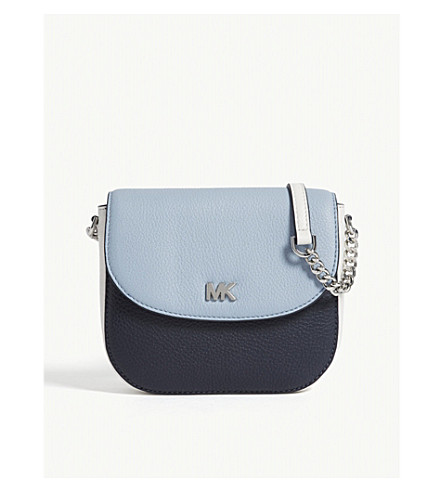 MICHAEL MICHAEL KORS Half-dome grained leather cross-body bag (Adm/plbl/opw