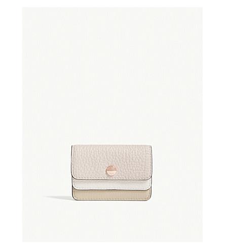 MICHAEL MICHAEL KORS Money Pieces double flap small leather card case (Oat/sfp/ltcr
