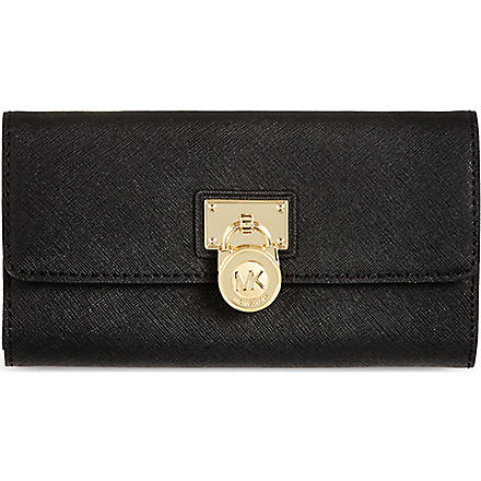 MICHAEL KORS Hamilton saffiano leather wallet (Black