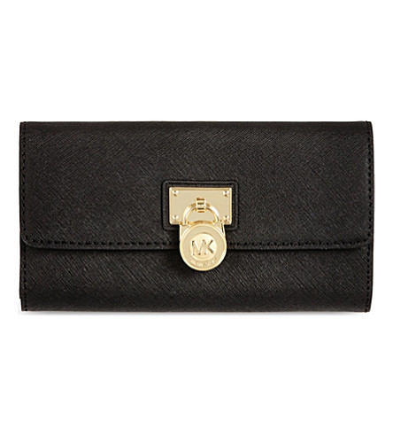 MICHAEL MICHAEL KORS Hamilton saffiano leather wallet (Black