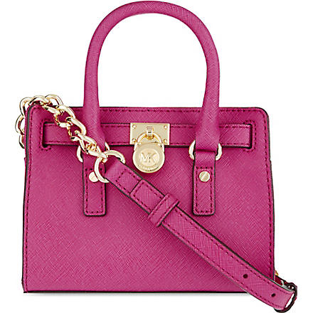 MICHAEL KORS Hamilton mini messenger bag (Raspberry