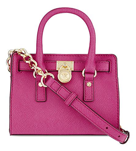 MICHAEL MICHAEL KORS Hamilton mini messenger bag (Raspberry