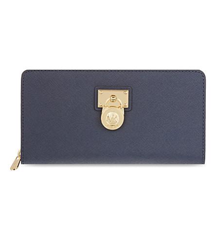 MICHAEL MICHAEL KORS Hamilton zip around wallet (Navy