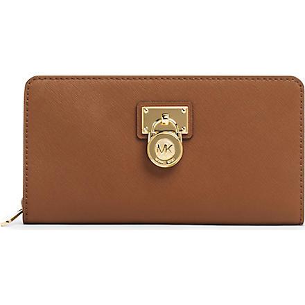 MICHAEL KORS Hamilton leather wallet (Luggage