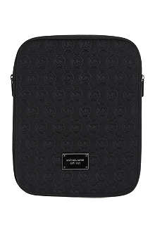 MICHAEL KORS Monogram neoprene iPad case