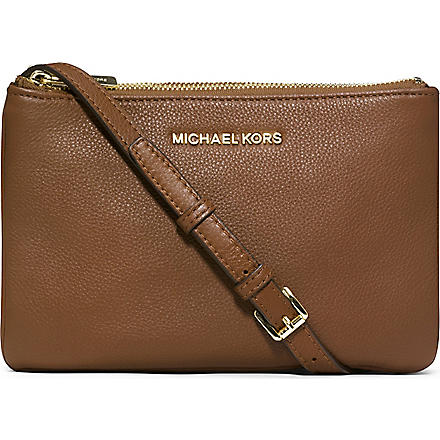 MICHAEL KORS Bedford leather cross-body bag (Luggage