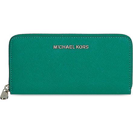 MICHAEL MICHAEL KORS Jet Set travel wallet (Aqua