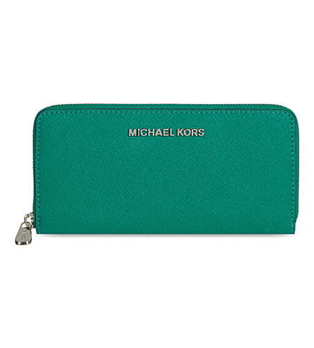 MICHAEL MICHAEL KORS Jet Set travel wallet (Aqua