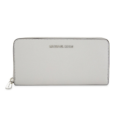 MICHAEL MICHAEL KORS Jet Set Travel leather continental wallet (Aluminum