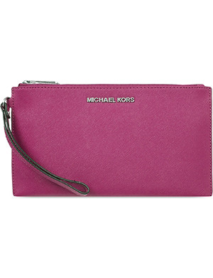 MICHAEL MICHAEL KORS Jet Set Travel leather clutch