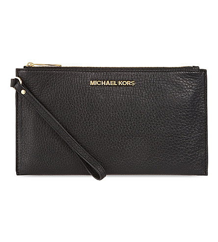 MICHAEL MICHAEL KORS Venus soft leather pouch (Black