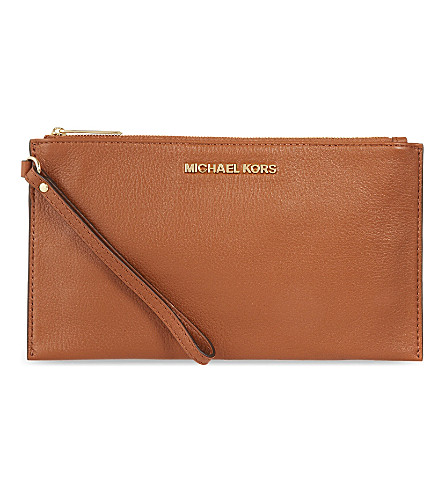 MICHAEL MICHAEL KORS Venus soft leather pouch (Luggage