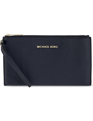 MICHAEL MICHAEL KORS Bedford large leather clutch