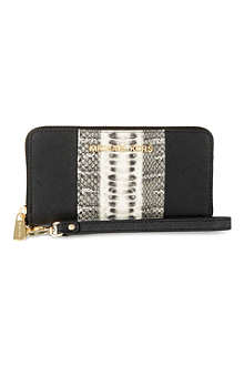 MICHAEL KORS Jet Set snake-stripe phone case