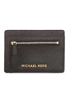 MICHAEL MICHAEL KORS Saffiano leather card holder