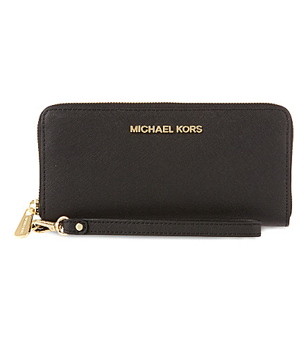 MICHAEL MICHAEL KORS Jet set travel wallet (Black