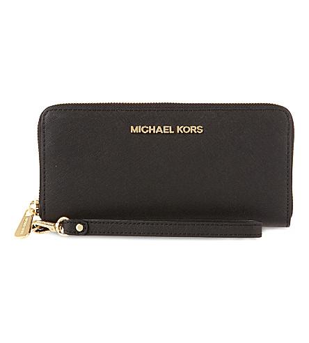 MICHAEL MICHAEL KORS Jet set travel wallet (Black